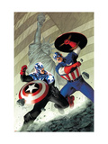 Captain America No.40 Cover: Captain America Print by Epting Steve