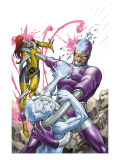X-Men: First Class 14 Cover: Machine Man, Iceman and Marvel Girl Fighting Prints by Roger Cruz