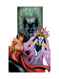 Avengers/Thunderbolts 2 Cover: Scarlet Witch, Songbirg and Vantage Art by Kitson Barry