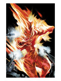 The Marvels Projects No.2 Cover: Human Torch Print by Steve MCNiven