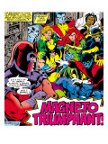 Marvel Comics Retro: X-Men Comic Panel Print