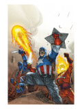 The New Invaders No.2 Cover: Captain America Prints by Kolins Scott