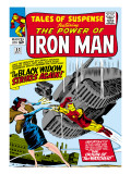 Marvel Comics Retro: The Invincible Iron Man Comic Book Cover 53, Black Widow Strikes Again Prints