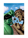 Hulk: Destruction 2 Cover: Hulk and Abomination Print by Hairsine Trevor