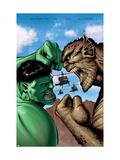 Hulk: Destruction No.2 Cover: Hulk and Abomination Print by Trevor Hairsine