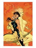Young X-Men No.2 Cover: Magma and Moonstar Posters by Terry Dodson