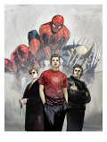 Powerless No.1 Cover: Spider-Man, Peter Parker, Wolverine, Daredevil, Matt Murdock and Logan Posters by Michael Gaydos
