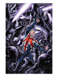 Captain Britain And MI: 13 No.8 Cover: Captain Britain Poster by Bryan Hitch