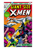 Giant-Size X-Men 2 Cover: Sentinel, Cyclops, Iceman, Angel and Beast Prints by Dave Cockrum