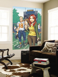 Mary Jane: Homecoming No.3 Cover: Watson, Mary Jane, Thompson and Flash Fighting Wall Mural by Miyazawa Takeshi