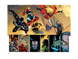 New Avengers 56 Group: Spider-Man, Iron Patriot, Wolverine, Ms. Marvel, Ares and Hawkeye Print by Immonen Stuart