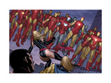 The Mighty Avengers 4 Group: Ms. Marvel and Iron Man Prints by Frank Cho