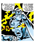 Marvel Comics Retro: Silver Surfer Comic Panel, Unleashing Power Poster