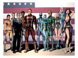 Squadron Supreme 1 Group: Dr. Spectrum Art by Frank Gary