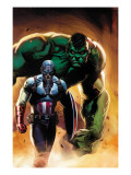 Ultimate Origins No.5 Cover: Captain America and Hulk Print by Gabriele DellOtto