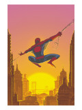 Spectacular Spider-Man 27 Cover: Spider-Man Swinging Poster by Buckingham Mark