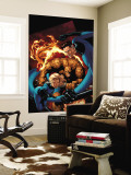 Marvel Knights 4 No.20 Cover: Mr. Fantastic, Invisible Woman, Human Torch, Thing and Fantastic Four Wall Mural by De Landro Valentine