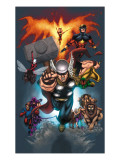 The Official Handbook Of The Marvel Universe: Book of the Dead 2004 Cover: Thor Jumping Prints by Salvador Larroca