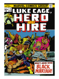Marvel Comics Retro: Luke Cage, Hero for Hire Comic Book Cover No.5, Black Mariah! Prints