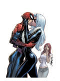 The Amazing Spider-Man 606 Cover: Spider-Man, Black Cat and Mary Jane Watson Print by J. Scott Campbell
