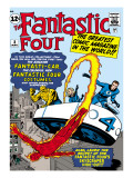Marvel Comics Retro: Fantastic Four Family Comic Book Cover No.3, Flying Poster