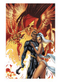 Black Panther 5 Cover: Black Panther and Storm Prints by J. Scott Campbell