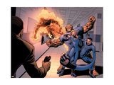 Dark Reign: Fantastic Four 4 Group: Invisible Woman, Thing, Mr. Fantastic and Human Torch Prints by Chen Sean