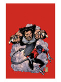 Wolverine 19 Cover: Wolverine and Nightcrawler Screaming Poster by Robertson Darick