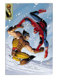 What If Spider-Man Vs. Wolverine 1 Cover: Spider-Man and Wolverine Kunstdruck von Romita Jr. John