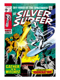 Marvel Comics Retro: Silver Surfer Comic Book Cover No.12, Fighting the Abomination Art