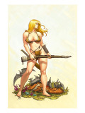 Shanna, The She-Devil 4 Cover: Shanna The She-Devil Prints by Frank Cho