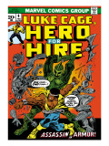 Marvel Comics Retro: Luke Cage, Hero for Hire Comic Book Cover 6, Assassin in Armor! Art