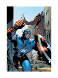 Captain America And The Falcon No.12 Cover: Captain America and Falcon Posters by Trevor Hairsine
