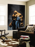 Marvel Knights 4 No.6 Cover: Thing, Storm and Sue reproduction murale géante par MCNiven Steve
