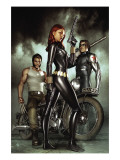 Black Widow: Deadly Origins 1 Cover: Black Widow, Bucky and Wolverine Prints by Granov Adi