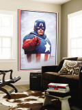 The New Invaders No.0 Cover: Captain America Mural por Steve Epting