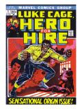 Marvel Comics Retro: Luke Cage, Hero for Hire Comic Book Cover No.1, Origin 高画質プリント