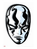 Marvel Comics Retro: Silver Surfer Stretched Canvas Print