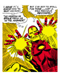 Marvel Comics Retro: The Invincible Iron Man Comic Panel, Fighting and Shooting Posters