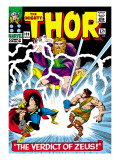 Marvel Comics Retro: The Mighty Thor Comic Book Cover No.129, The Verdict of Zeus, Hercules Print