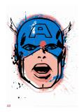 Marvel Comics Retro: Captain America Stretched Canvas Print