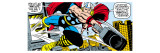 Marvel Comics Retro: Mighty Thor Comic Panel, Flying and Jumping Premium Giclee Print