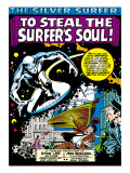 Marvel Comics Retro: Silver Surfer Comic Panel Art