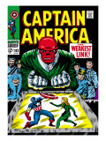 Marvel Comics Retro: Captain America Comic Book Cover 103, Red Skull, the Weakest Link Print