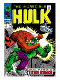 Marvel Comics Retro: The Incredible Hulk Comic Book Cover No.106, Titan Rages Prints