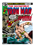 Marvel Comics Retro: The Invincible Iron Man Comic Book Cover No.120; The Sub-Mariner Strikes Art