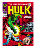Marvel Comics Retro: The Incredible Hulk Comic Book Cover No.108, with Nick Fury Art