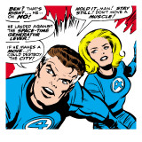 Marvel Comics Retro: Fantastic Four Comic Panel, Mr. Fantastic, Invisible Woman Kunstdrucke