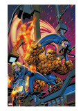 Fantastic Four #535 Cover: Human Torch, Invisible Woman, Mr. Fantastic, Thing and Fantastic Four Reproduccin en lienzo de la lmina por McKone Mike