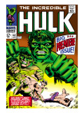 Marvel Comics Retro: The Incredible Hulk Comic Book Cover No.102, Big Premiere Issue Posters